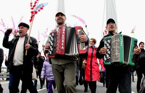 Первомайская демонстрация во Владивостоке