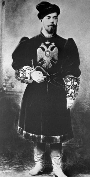 Император Николай II в русском костюме. 1890