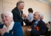 Ветераны Великой Отечественной Войны Павел Мурашкин и Николай Пономарев (справа) на встрече ветеранских клубов города Болотное Новосибирской области.