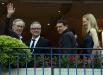 Члены жюри 66-ого Каннского фестиваля, американский режиссер Стивен Спилберг, актеры Кристоф Вальц и Даниэль Отой и австралийская актриса Николь Кидман