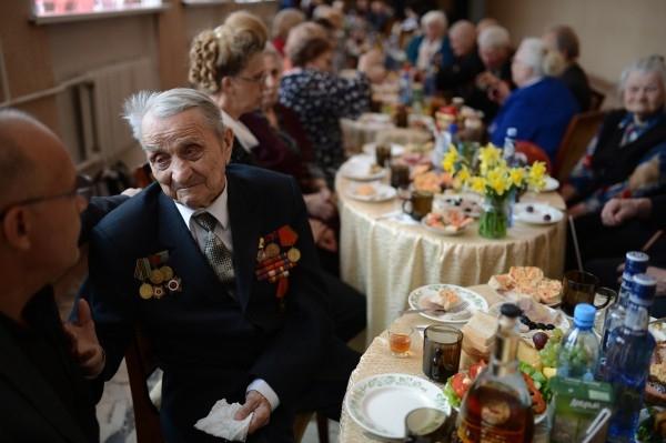 Ветеран Великой Отечественной войны Сохин Алексей на встрече ветеранских клубов в городе Болотное Новосибирской области.