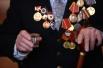 Ветеран Великой Отечественной войны Иван Овечкин на встрече ветеранских клубов г. Болотное Новосибирской области.