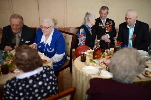 Ветераны Великой Отечественной войны на встрече ветеранских клубов в городе Болотное Новосибирской области.