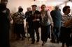 Ветерана Великой Отечественной войны Сохина Алексея (в центре) провожают домой со встречи ветеранских клубов города Болотное Новосибирской области.