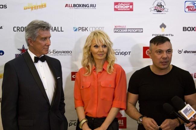 Майкл Баффер, Валерия и Костя Цзю (слева направо)