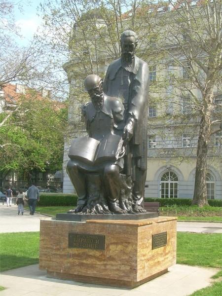 Памятник Кириллу и Мефодию в Белграде, Сербия.