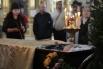 Гроб с телом режиссера Алексея Балабанова на отпевании в Князь-Владимирском соборе в Санкт-Петербурге.