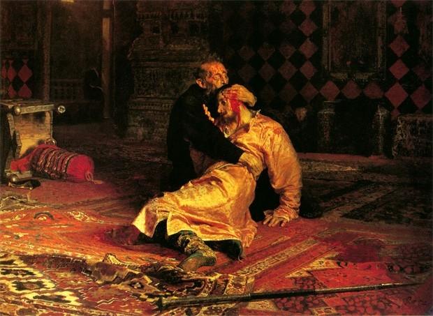 «Иван Грозный и сын его Иван 16 ноября 1581 года», Илья Репин, 1883-1885 годы