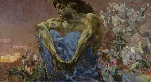 «Демон сидящий», Михаил Врубель, 1890 год