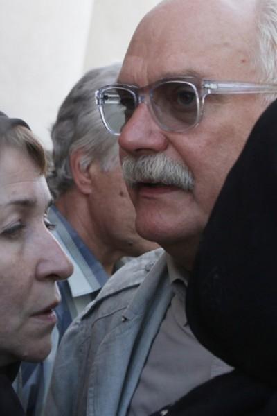 Никита Михалков во время прощания с режиссером Алексеем Балабановым у Князь-Владимирского собора в Санкт-Петербурге.