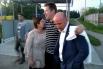 Алексей Козлов с супругой Ольгой Романовой и адвокатом Алхасом Абгаджавой.