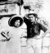 Эрнесто и Ильда Гадеа во время медового месяца на полуострове Юкатан, 1955 г.