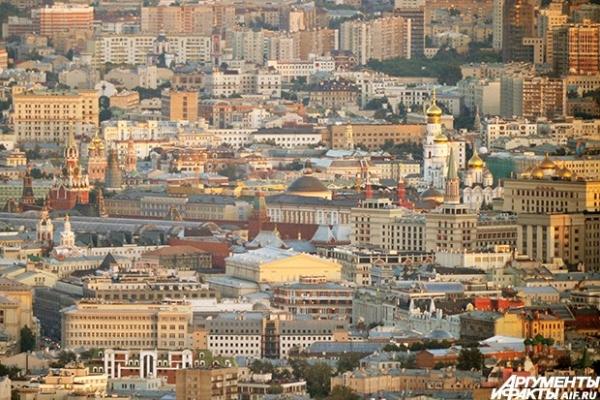 Вид на Московский Кремль - официальную резиденцию Президента Российской Федерации.