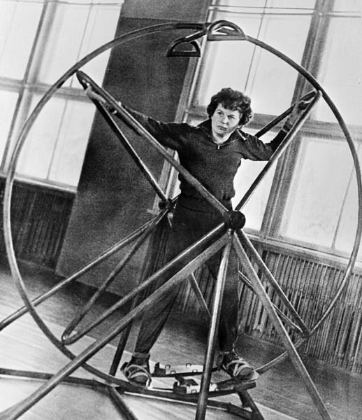 Валентина Терешкова на тренировке. 1963г.