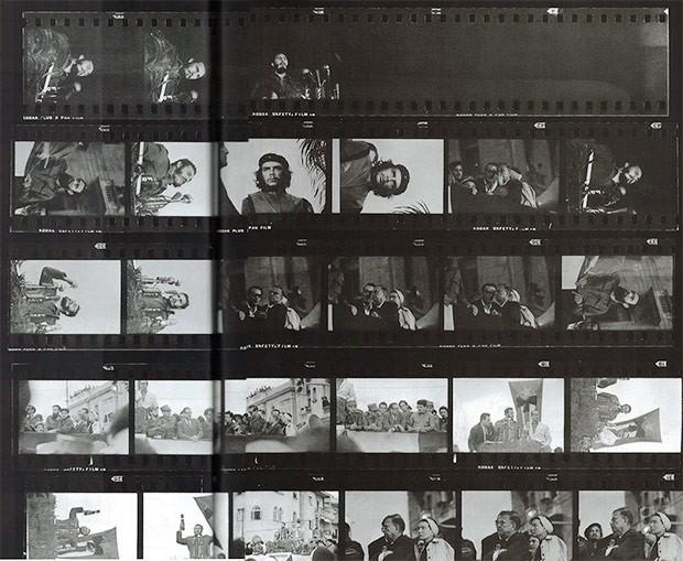 Альберто Корда будучи фотографом «Revolución», 5 марта 1960 года на траурном митинге в Гаване в 12 часов 13 минут снял культовый портрет Че Гевары. На снимке: раскадровка кадров той съемки