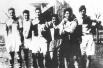 Че Гевара (первый справа) с товарищами по регби, 1947 год