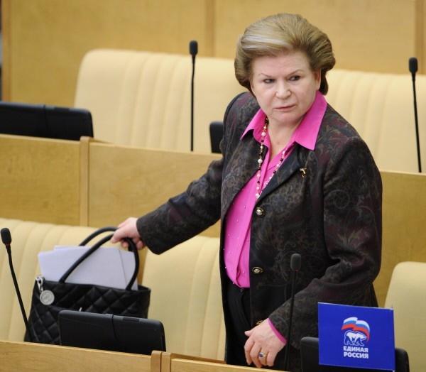 Член комитета Государственной Думы РФ по международным делам Валентина Терешкова на заседании нижней палаты российского парламента. 2012