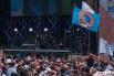 """Зрители на фестивале """"Рок над Волгой"""", проходящем у поселка Петра-Дубрава в Самарской области."""