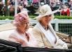 Каждый год конный турнир посещает действующая Королева Англии Елизавета II и различные члены королевской семьи. С 1945 года Ее Величество не пропустила ни одного соревнования.  На фото: королева Елизавета, Камилла Паркер-Боулз