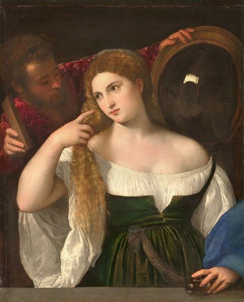 «Женщина перед зеркалом» (около 1515)