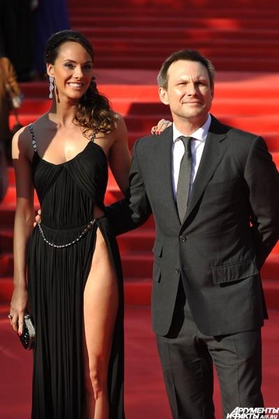 Актер Кристиан Слейтер перед началом церемонии