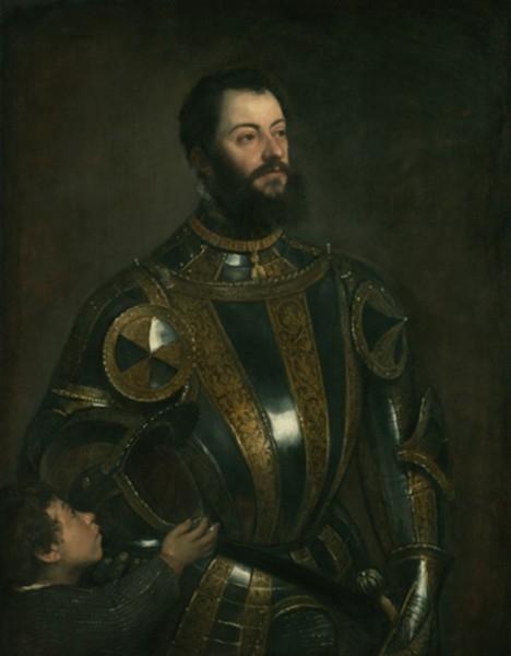 Портрет Альфонсо д'Авалоса, в доспехе и с пажом (1533)