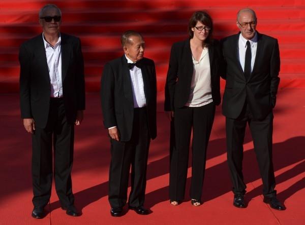 Члены жюри фестиваля - Сергей Гармаш, Ким Дон-хо, Урсула Майер и Зураб Кипшидзе