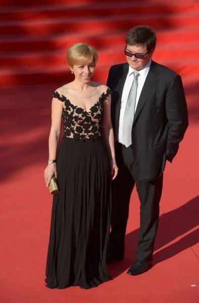 Телеведущая Марианна Максимовская с мужем