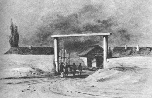 Крепость Грозная (на этом месте впоследствии была построена библиотека им. Чехова)  В соответствии с планами генерала  Алексея Ермолова, 22 июня 1818 года в низовье рек Сунжи была основана русская крепость, получившая название Грозная. Крепость была пос
