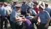 Задержание местных жителей города Пугачева попытавшихся перекрыть трассу Саратов - Самара.