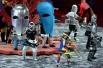 Артисты выступают на церемонии открытия XXVII Всемирной летней Универсиады 2
