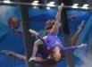 Ксения Афанасьева (Россия) выполняет упражнение на бревне на финальных соревнованиях по спортивной гимнастике в женском индивидуальном многоборье.  Ксения завоевала серебряную медаль