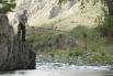 В 2009 году Путин снова вернулся в Туву. Во время своего однодневного отпуска он ловил рыбу на тувинской реке.