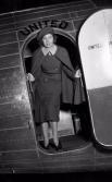 Первой стюардессой в истории авиации называют Эллен Черч из штата Айова. В свой первый полет  она отправилась 15 мая 1930 года, самолет следовал по рейсу Сан-Франциско — Шайенн.