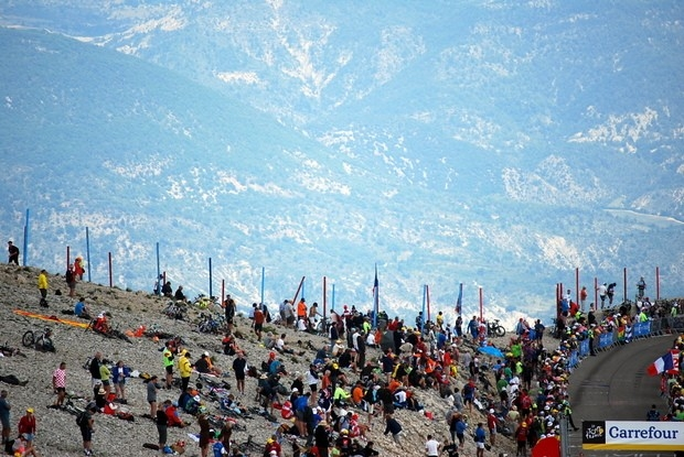 Болельщики на одном из самых высокогорных этапов Тур де Франс