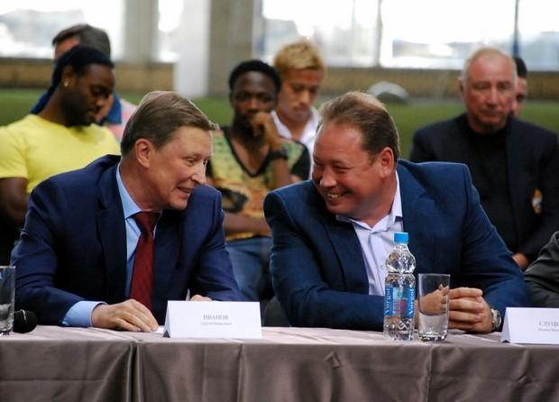 Сергей Иванов и главный тренер ЦСКА Леонид Слуцкий