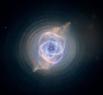 Туманность «Кошачий Глаз» или NGC 6543 — планетарная туманность в созвездии Дракона. Это одна из самых сложных по структуре туманностей. На снимках, сделанных с высоким разрешением телескопом Хаббла, видно множество сплетений, выбросов и ярких дугообразны