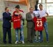 Президент ЦСКА представил фанатам новичков клуба Георги Миланова (справа) и Стивена Цубера