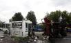 Рейсовый автобус «ЛиАЗ» и КАМАЗ, гружённый щебнем, столкнулись около часа дня в Троицком районе, недалеко от села Ознобишино