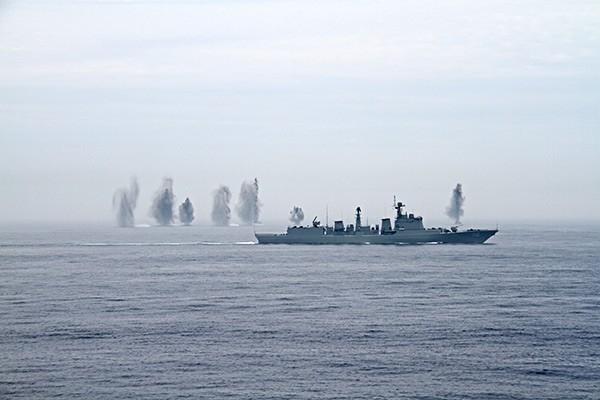 Были проведены  стрельбы по различным видам как надводных, так и воздушных целей.