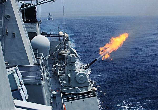 Артиллерийские стрельбы по различным видам как надводных, так и воздушных целей.