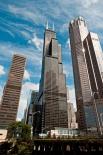 Чикагский небоскреб Уиллис-Тауэр считается самым высоким здание США. Его точный размер 527 метров.