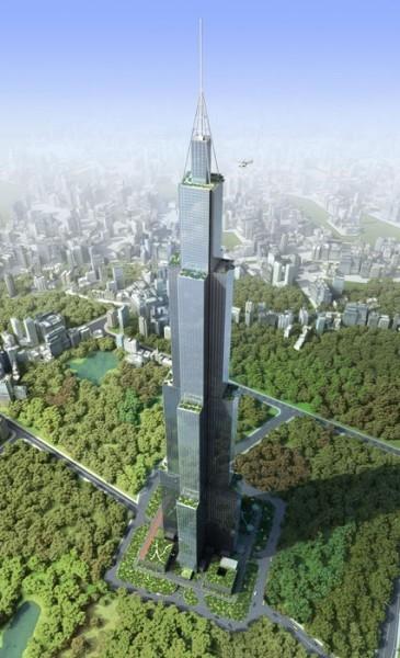 Если первоначальный план будет реализован на 220 этажах Sky City заработают 5 школ, больница, отель, 6 баскетбольных площадок и 10 теннисных кортов.