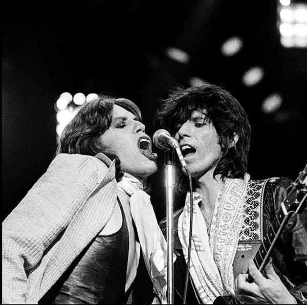Дуэт Мика Джаггера и Кита Ричардса.1975 г.