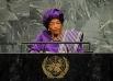 Эллен Джонсон-Серлиф  - женщина-политик, а с 2006 года еще и президент Либерии. В 2011 году она вместе с двумя правозащитниками была награждена Нобелевской премией «За ненасильственную борьбу за безопасность женщин и за права женщин на полноправное участи