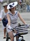 Участница велопарада
