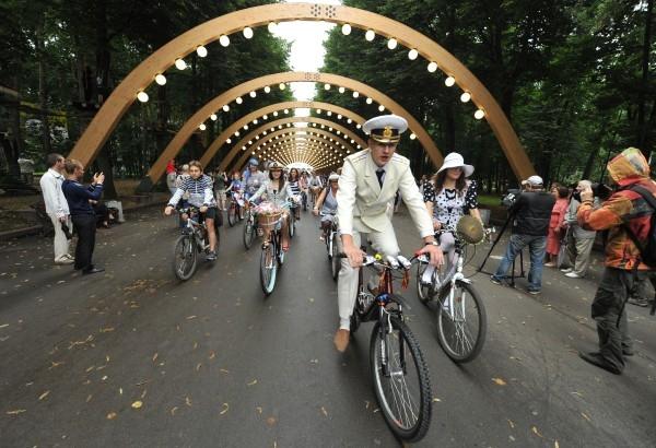 Дистанция трассы для дамского велопробега — 7 км.