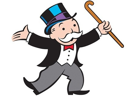 На 13-м месте - символ культовой настольной игры «Монополия» Мистер Монополия. Этот персонаж за год потерял более 50% состояния. Теперь оно насчитывает 5,8  миллиарда долларов