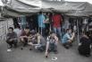 В палаточном лагере для мигрантов в Гольяново.