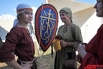 Большое внимание устроители уделили символике того времени, плотно связанной с культурой и обычаями славян.